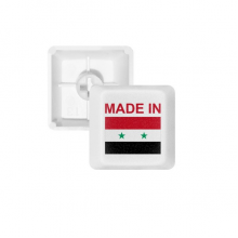 Made In Syria Country Love PBT Keycaps for Mechanical Keyboard White OEM No Marking Print