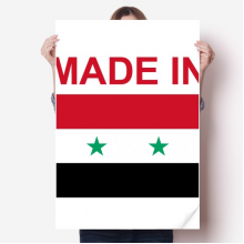 Made In Syria Country Love Vinyl Wall Sticker Poster Mural Wallpaper Room Decal 80X55cm