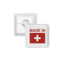 Made In Switzerland Country Love PBT Keycaps for Mechanical Keyboard White OEM No Marking Print