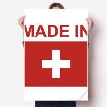 Made In Switzerland Country Love Vinyl Wall Sticker Poster Mural Wallpaper Room Decal 80X55cm