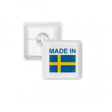 Made In Sweden Country Love PBT Keycaps for Mechanical Keyboard White OEM No Marking Print