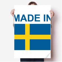 Made In Sweden Country Love Vinyl Wall Sticker Poster Mural Wallpaper Room Decal 80X55cm