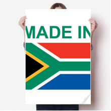 Made In South Africa Country Love Vinyl Wall Sticker Poster Mural Wallpaper Room Decal 80X55cm