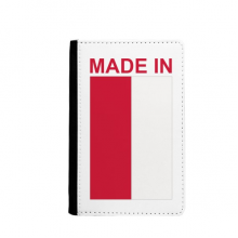 Made In Poland Country Love Passport Holder Travel Wallet Cover Case Card Purse