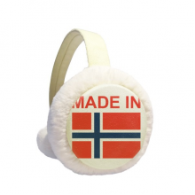 Made In Norway Country Love Winter Earmuff Ear Warmer Faux Fur Foldable Plush Outdoor Gift