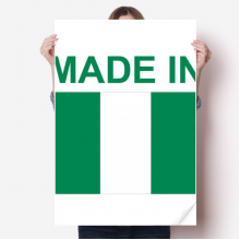 Made In Nigeria Country Love Sticker Decoration Poster Playbill Wallpaper Window Decal