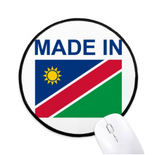 Made In Namibia Country Love Round Non-Slip Mousepads Black Stitched Edges Game Office Gift