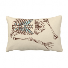 Human Skeleton Sketching Throw Pillow Lumbar Insert Cushion Cover Home Decoration