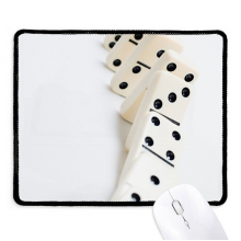 Pai Gow Domino Gambling Photo Non-Slip Mousepad Game Office Black Stitched Edges Gift