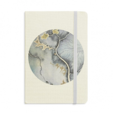 Ink Abstract Shading Watercolor Notebook Fabric Hard Cover Classic Journal Diary A5