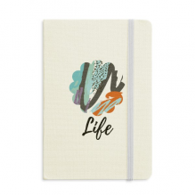 Enthusiasm Abstract Plants Art Notebook Fabric Hard Cover Classic Journal Diary A5