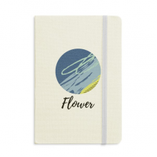 Peaceful Abstract Plants Art Pattern Notebook Fabric Hard Cover Classic Journal Diary A5