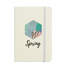 Happy Abstract Plants Art Pattern Notebook Fabric Hard Cover Classic Journal Diary A5