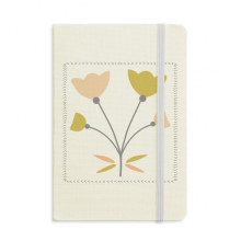 Four Roses Abstract Plants Art Notebook Fabric Hard Cover Classic Journal Diary A5