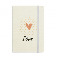 Heart-shaped Abstract Plants Art Notebook Fabric Hard Cover Classic Journal Diary A5