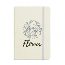 Line Drawing Abstract Plants Art Notebook Fabric Hard Cover Classic Journal Diary A5