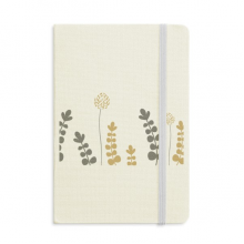 Dandelion Abstract Plants Art Notebook Fabric Hard Cover Classic Journal Diary A5