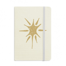 Sunlight Abstract Plants Art Pattern Notebook Fabric Hard Cover Classic Journal Diary A5