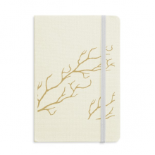 Branch Abstract Plants Art Pattern Notebook Fabric Hard Cover Classic Journal Diary A5