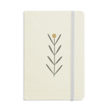 Grass Abstract Plants Art Pattern Notebook Fabric Hard Cover Classic Journal Diary A5