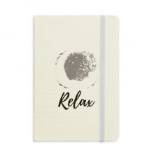 White Ink Abstract Plants Art Pattern Notebook Fabric Hard Cover Classic Journal Diary A5