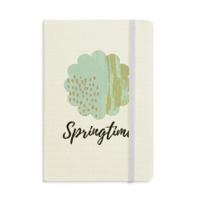 Matcha Abstract Plants Art Pattern Notebook Fabric Hard Cover Classic Journal Diary A5