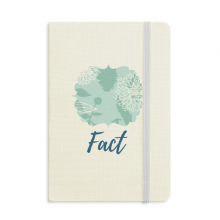 Chrysanthemum Abstract Plants Art Notebook Fabric Hard Cover Classic Journal Diary A5