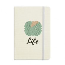 Dot Abstract Plants Art Pattern Notebook Fabric Hard Cover Classic Journal Diary A5