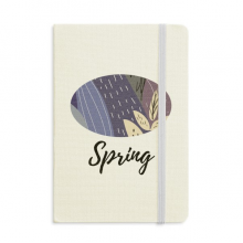 Leaf Abstract Plants Art Pattern Notebook Fabric Hard Cover Classic Journal Diary A5