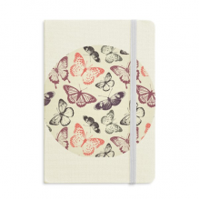 Butterfly in Pale Pink Background Notebook Fabric Hard Cover Classic Journal Diary A5