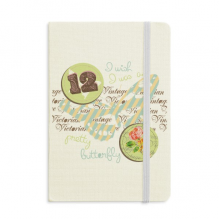 Stamps and Butterfly Notebook Fabric Hard Cover Classic Journal Diary A5