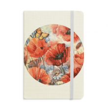 Colourful Butterfly with Flowers Notebook Fabric Hard Cover Classic Journal Diary A5