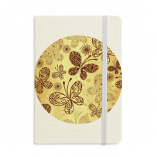 Yellow Butterfly Wallpaper Notebook Fabric Hard Cover Classic Journal Diary A5