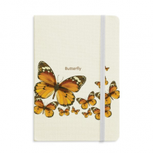 Butterfly in Autumn Wood Notebook Fabric Hard Cover Classic Journal Diary A5