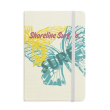Summer Shoreline Surf Butterfly Notebook Fabric Hard Cover Classic Journal Diary A5