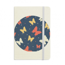Colourful Butterfly in Dots Notebook Fabric Hard Cover Classic Journal Diary A5