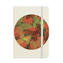 Vintage Butterfly on Roses Notebook Fabric Hard Cover Classic Journal Diary A5