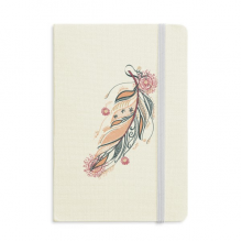 Feather Ladies Pink Flower  Culture Notebook Fabric Hard Cover Classic Journal Diary A5