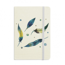 Feather Colorful Spot Beautiful Silence Notebook Fabric Hard Cover Classic Journal Diary A5