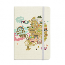 South Korea Map Love Travel Notebook Official Fabric Hard Cover Classic Journal Diary