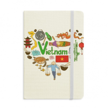 Vietnam Love Heart Landscap National Flag Notebook Official Fabric Hard Cover Classic Journal Diary