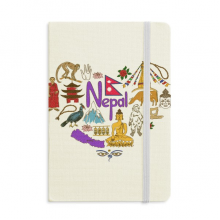 Nepal Love Heart Landscap National Flag Notebook Official Fabric Hard Cover Classic Journal Diary