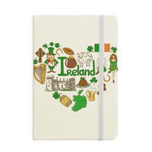Ireland Love Heart Landscap National Flag Notebook Official Fabric Hard Cover Classic Journal Diary