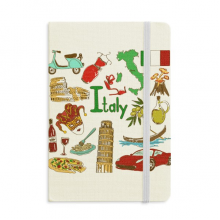 Italy Landscap Animals National Flag Notebook Official Fabric Hard Cover Classic Journal Diary