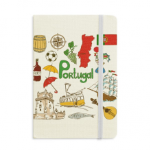 Portugal Landscap Animals National Flag Notebook Official Fabric Hard Cover Classic Journal Diary