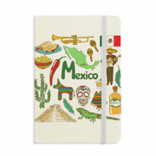 Mexico Landscap Animals National Flag Notebook Official Fabric Hard Cover Classic Journal Diary