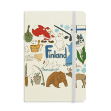 Finland Landscap Animals National Flag Notebook Official Fabric Hard Cover Classic Journal Diary