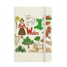 Wales Landscap UK National Flag Notebook Official Fabric Hard Cover Classic Journal Diary
