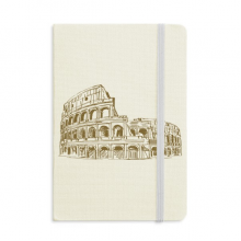 Italy Rome Landmark Sketch Landscape Notebook Official Fabric Hard Cover Classic Journal Diary