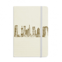 Shanghai China Landmark Sketch Notebook Official Fabric Hard Cover Classic Journal Diary